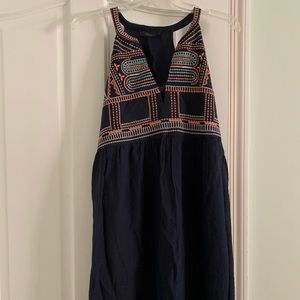 THML Navy Embroidered Dress